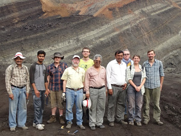 13 All the team at the end of the expedition in Vastan South Mine